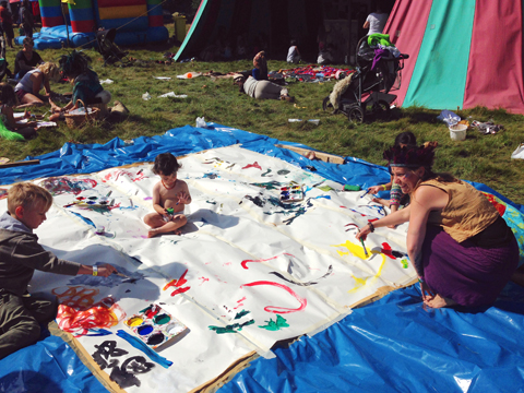 Lucy Mills Transcendental Painting workshop Into The Wild Festival