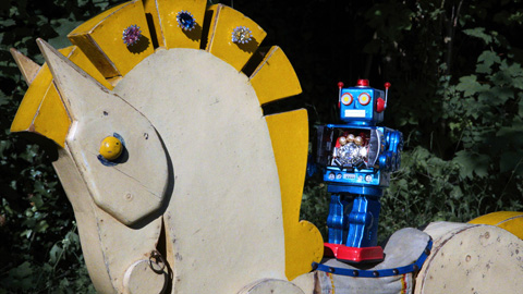 MAWI Robot Invasion video horse