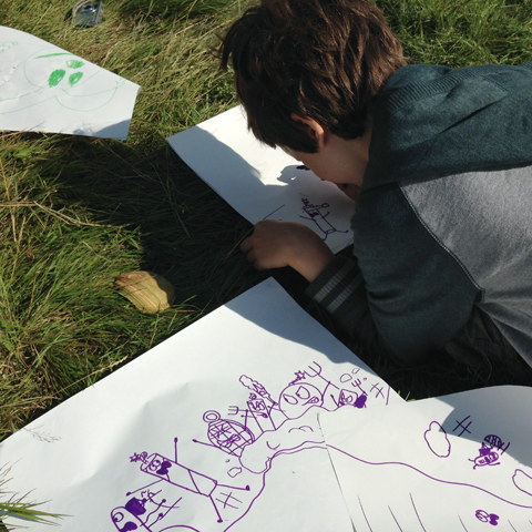 Pleebles Art Workshop with Carl Sullivan Into The Wild Festival