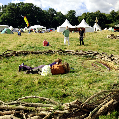 ladies in wood circle Into The Wild Festival