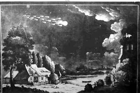 Meteor over Shetland Isles