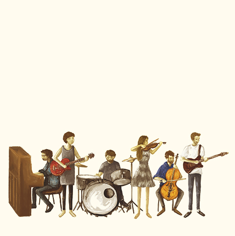 Wooden Arm Music Illustration by Alice Jamieson