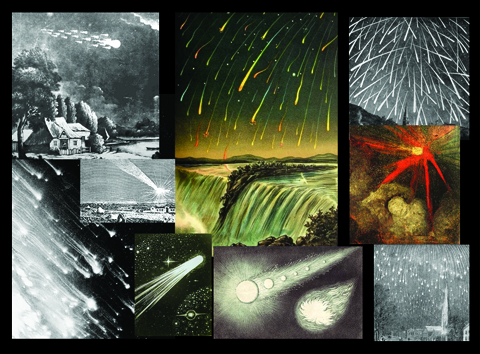 TWWDNU front cover collage meteors, meteor showers