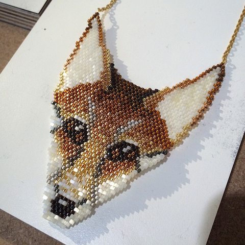 Clara_Francis_fox_beaded_necklace