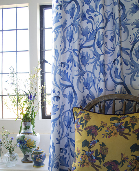 Occipinti Rushflower Cobalt Curtain