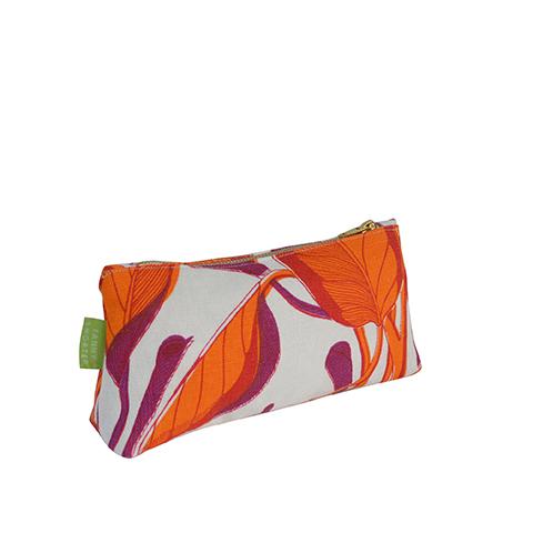 Calathea_Blood_Orange_Make_Up_Bag_Side_Fanny_Shorter