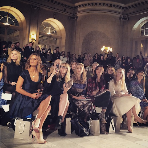 Paul Costelloe AW15 front row