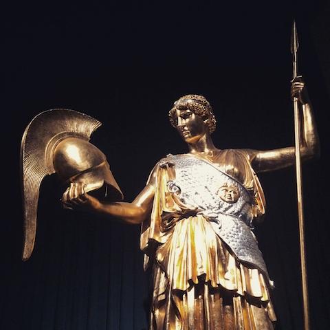 Defining Beauty British Museum-Gold Goddess Athena