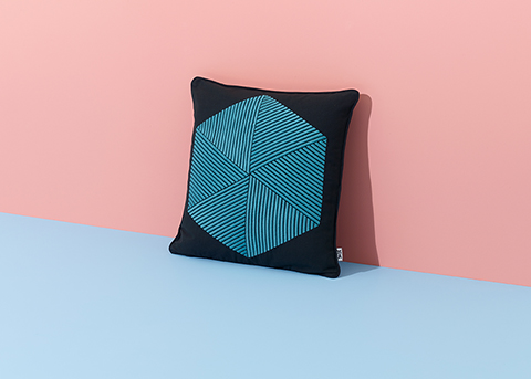Hexagon Cushion (styled), Nazanin Kamali