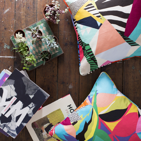 Kitty McCall tropicalia cushions