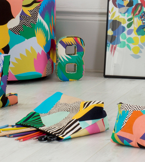 Kitty McCall tropicalia washbags