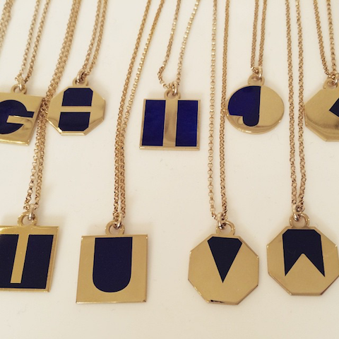 Lily Kamper enamel pendants
