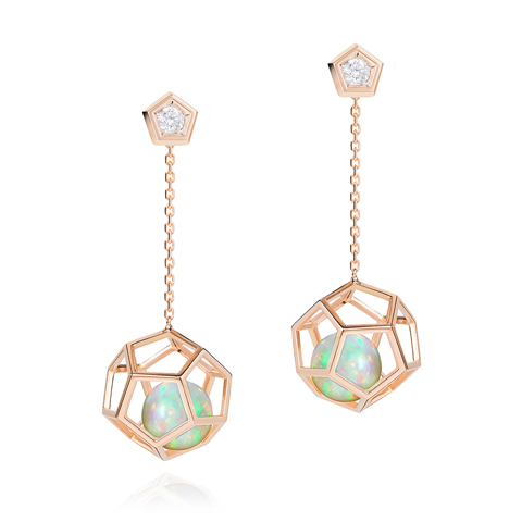 Ornella Iannuzzi Earrings Cage Rock It ! 18KY