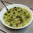 Porridge Cafe-parsley aubergine caper risotto thb