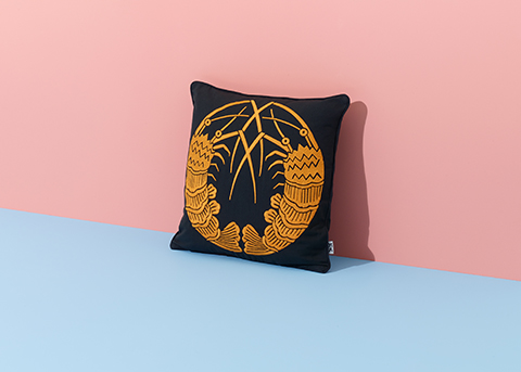 Shrimps Cushion (styled), Nazanin Kamali