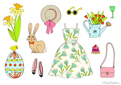 Easter Art Fashion Spring Collection by Kasia Dudziuk
