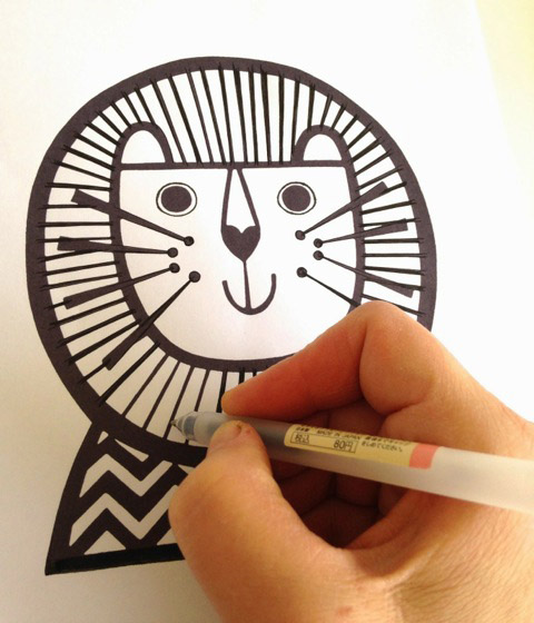 Jane Foster lion drawing