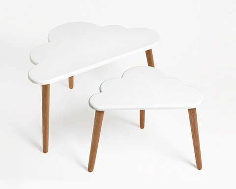 Cloud coffee table set by Pygmy Cloud