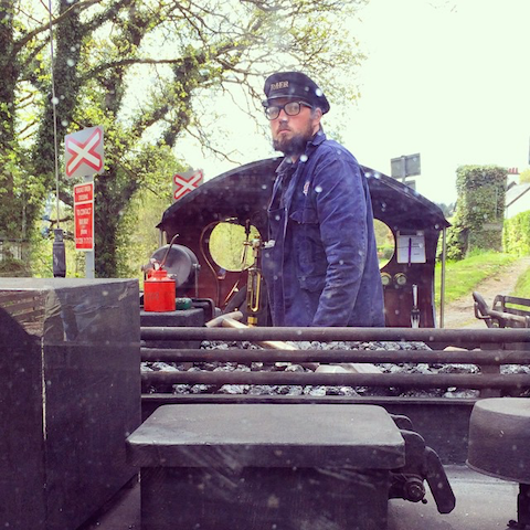 Lake District Ravenglass railway driver