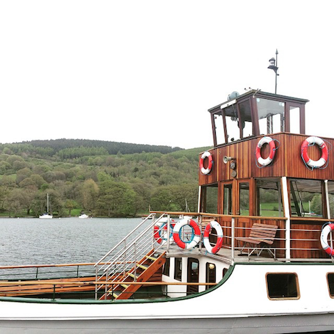 Lake District Windermere Swan boat