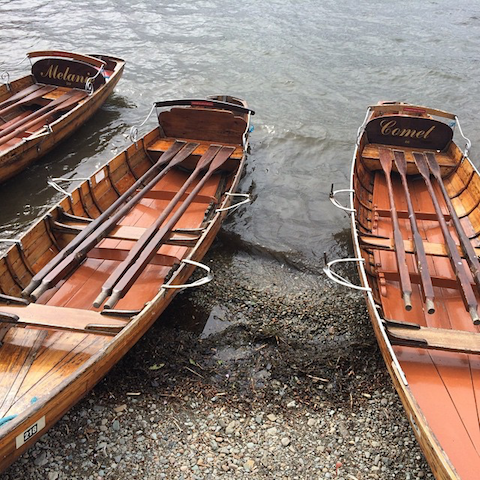 Lake District Windermere row boats