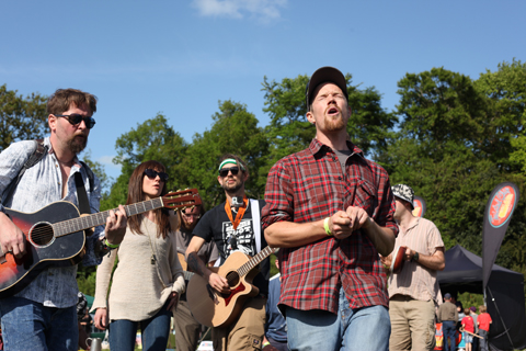 Wood Festival 2015-review out door singing