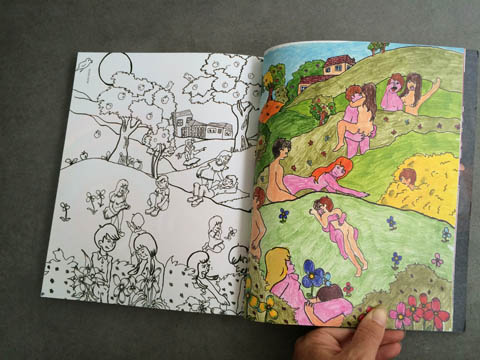 Amelia's Magazine issue 4 Babak Ganjei colouring in pages
