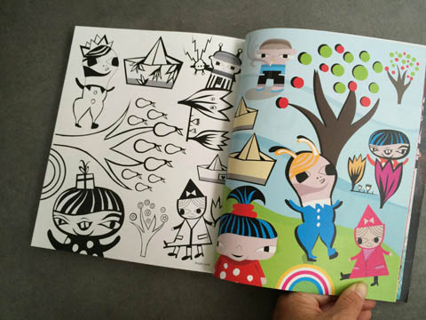 Amelia's Magazine issue 4 Birgitte Lund colouring in pages