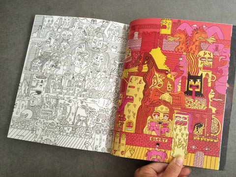 Amelia's Magazine issue 4 Serge Seidlitz colouring in pages