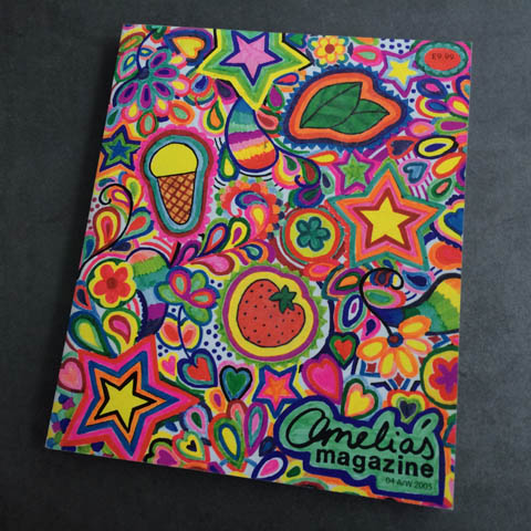 Amelia's Magazine issue 4 cover colouring in