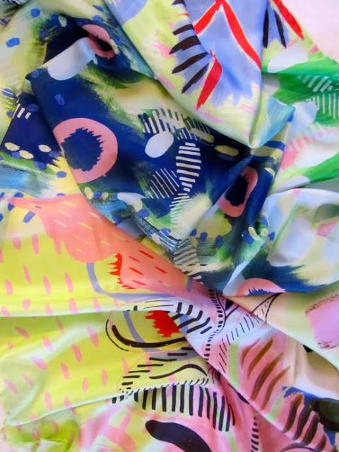 Charlotte Beevor - Silk Scarf A - New Designers 2015 - One Year On