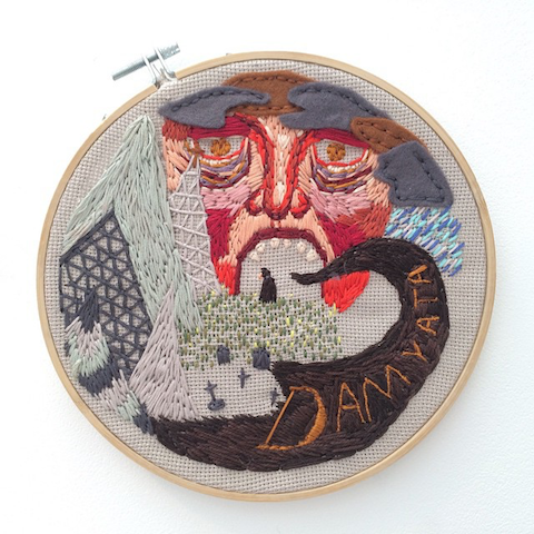 Embroidery hoop by Dervla Mary