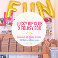 Folksy  lucky dip launch graphic thb