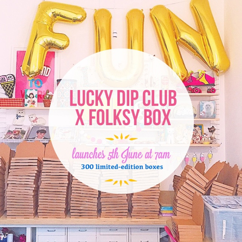 Folksy  lucky dip launch graphic