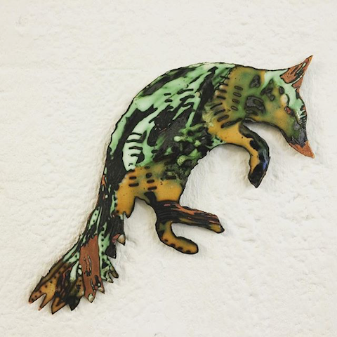 Aurore Swithenbank enamel animals