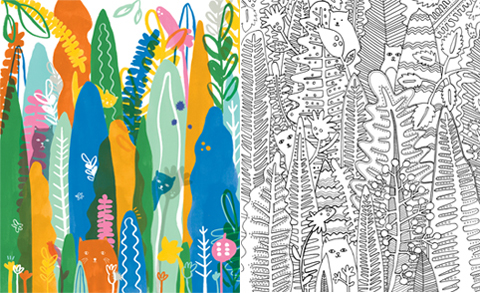 Ashley Le Quere_colouring book pages