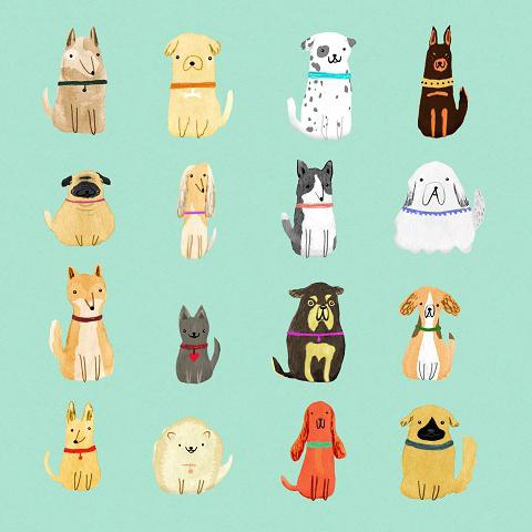 Sophie Corrigan - dogs hallmark card