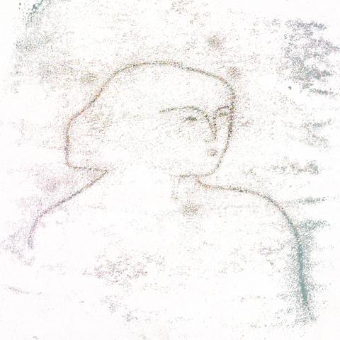 Augusta Akerman 'mono print portrait'