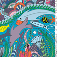 Sealife Colouring in Original Draft