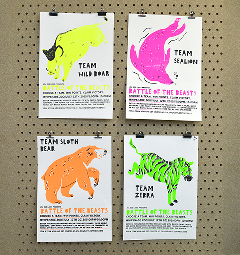 Jenny Tang Fluorescent Animal Posters