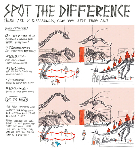 Jenny tang Spot the Difference Dinosaurs 2