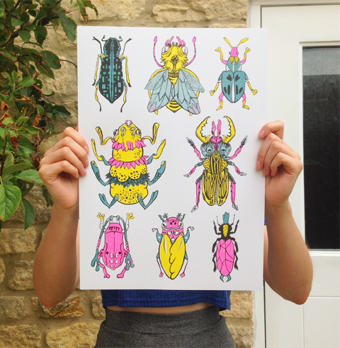 LIBBY PARRA risograph bugs