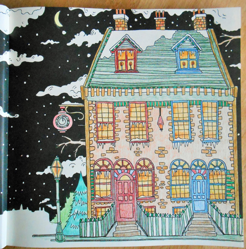 Escape to Christmas Past 2 coloured by Lynn Stevens