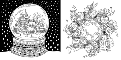 Escape to Christmas Past snowglobe