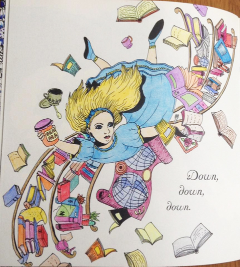 Escape to Wonderland coloured by Paula Bowerman