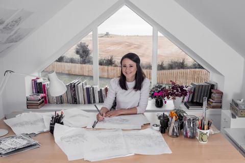 Johanna Basford in studio
