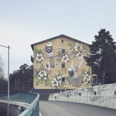 Mural idea by Hanna Karlzon
