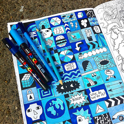 Doodlers Anonymous Epic Colouring Book