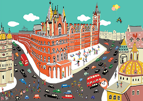 St-pancras-station by Lulu Mayo