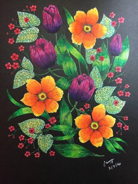 Blomstermandala Jane Smith